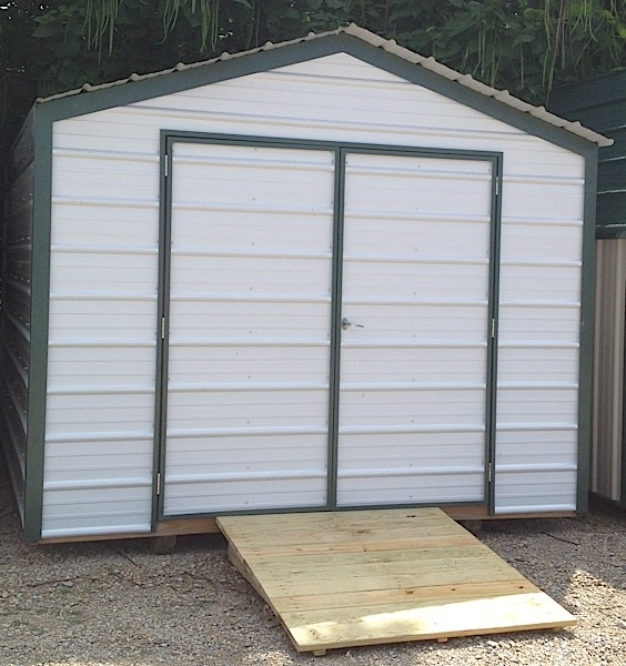 Portable metal shed show me outdoor products for Small portable shed