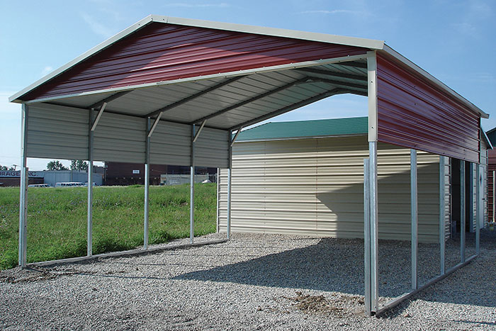 Economy Enclosed Carport : Carports show me outdoor products